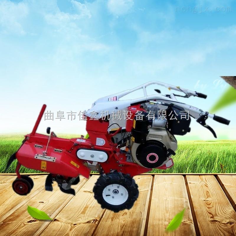 大葱培土机价格 新款手推旋耕开沟松土机