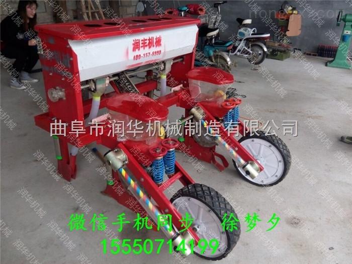 福建玉米覆膜播种机 四轮带谷子施肥精播机