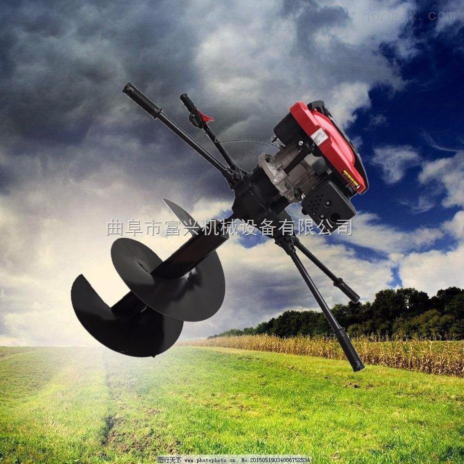 四轮拖拉机挖坑机 园林栽树打坑机图片