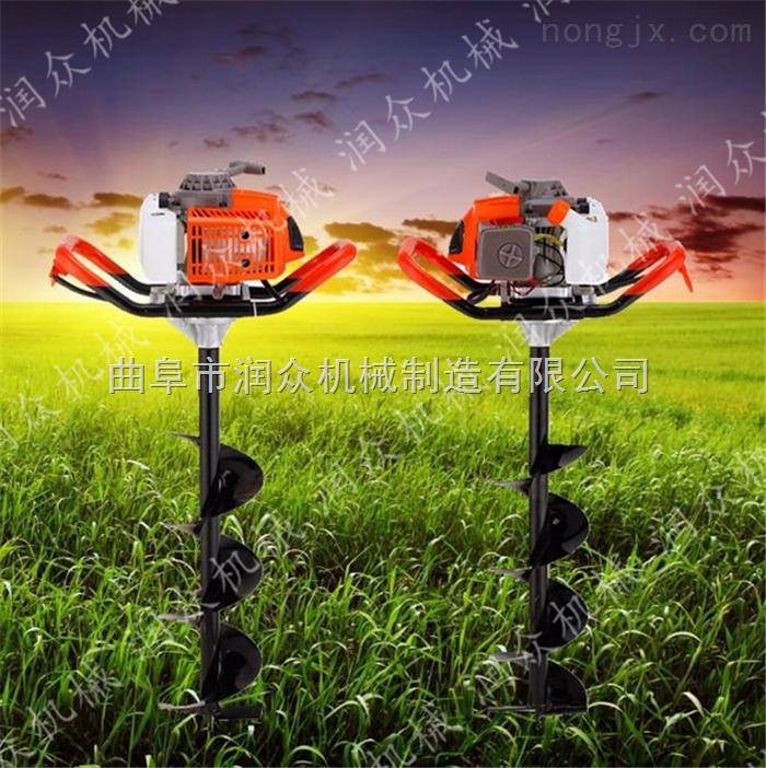 四轮拖拉机带螺旋打坑机 农业土地挖坑机