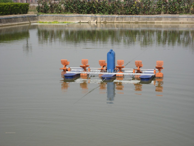 厂家新款铜线鱼塘六叶轮水车式增氧机2.2KW