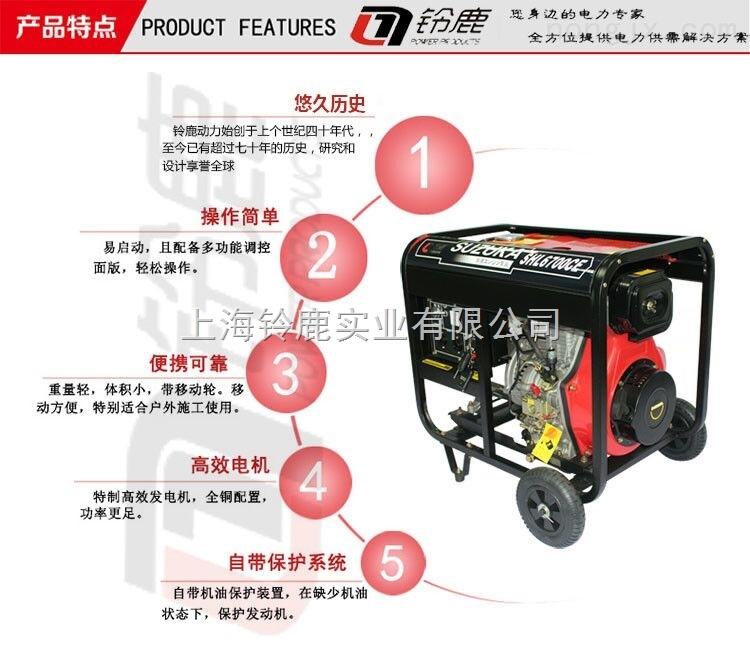 应急电源5KW小型柴油发电机进口动力