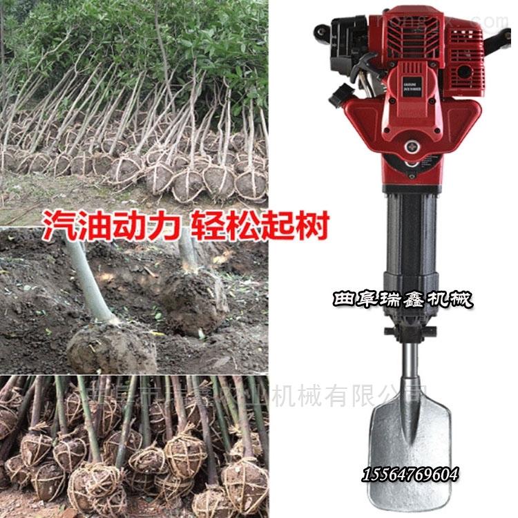 可以挖树的汽油镐手提式地面打孔埋桩机