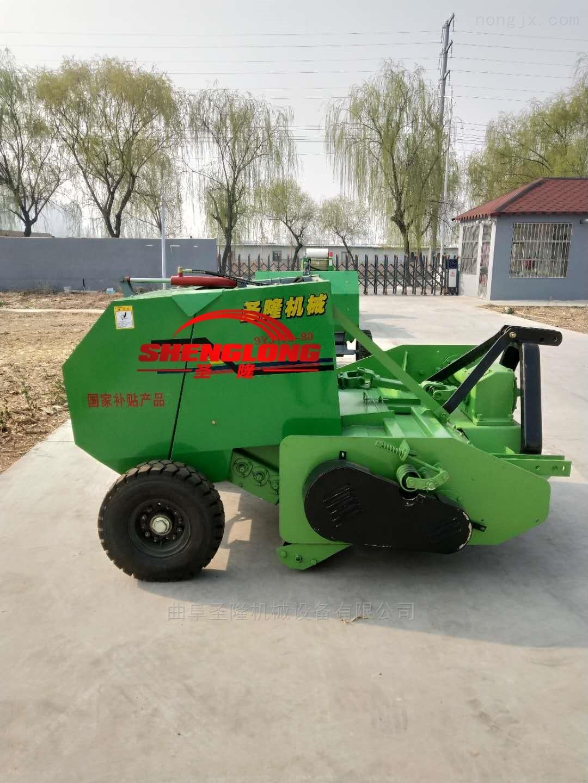 SL180-70100-拖拉机带动玉米粉碎打捆机 秸秆打包机