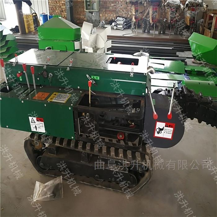 蘋果樹施肥開溝機 履帶式柴油動力旋耕機