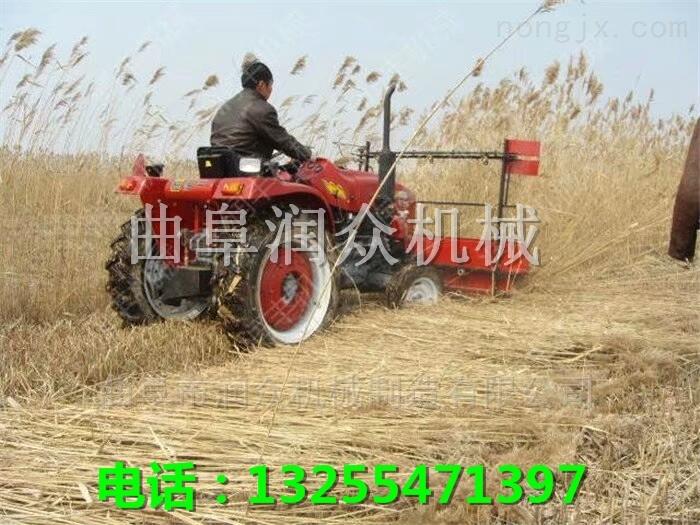 小型稻麦收割机 拖拉机带割晒机厂家