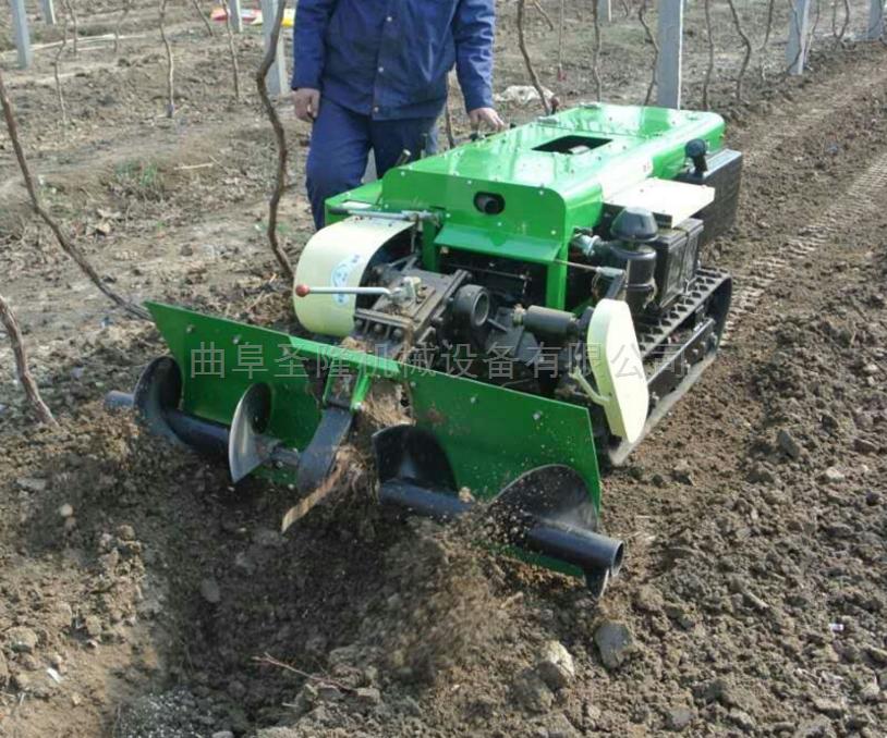 田园管理机 行走式大棚开沟施肥机