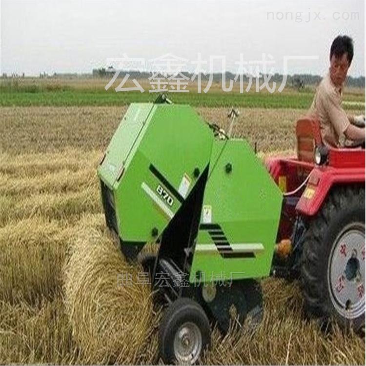 小型玉米秸秆打捆机 行走式收割打包机