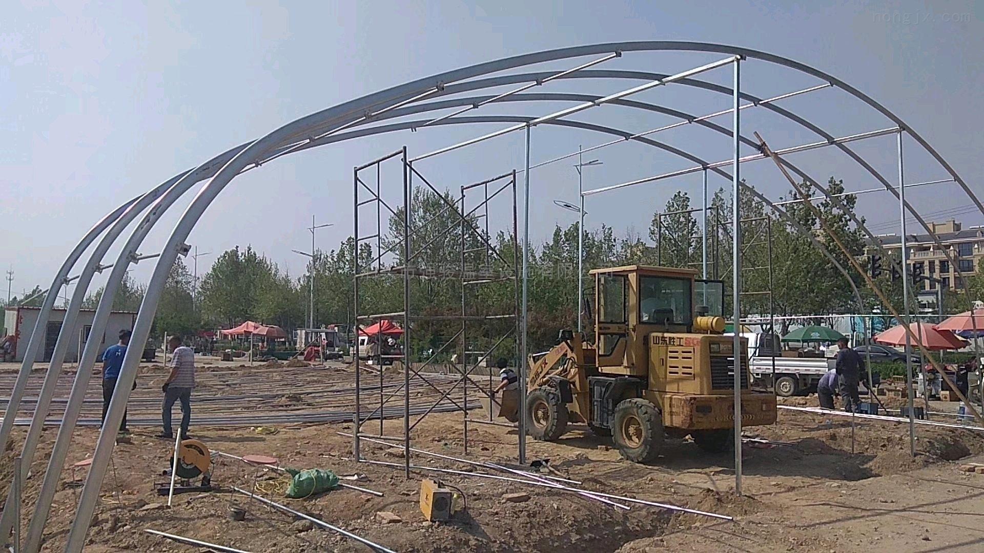 供應溫室大棚骨架橢圓幾字鋼和雙膜多種類