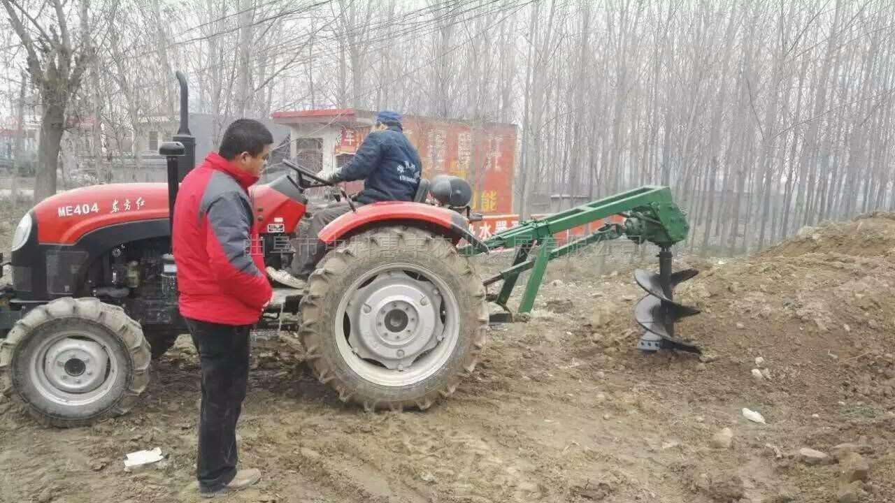 挖坑機圖片植樹造林大棚立柱