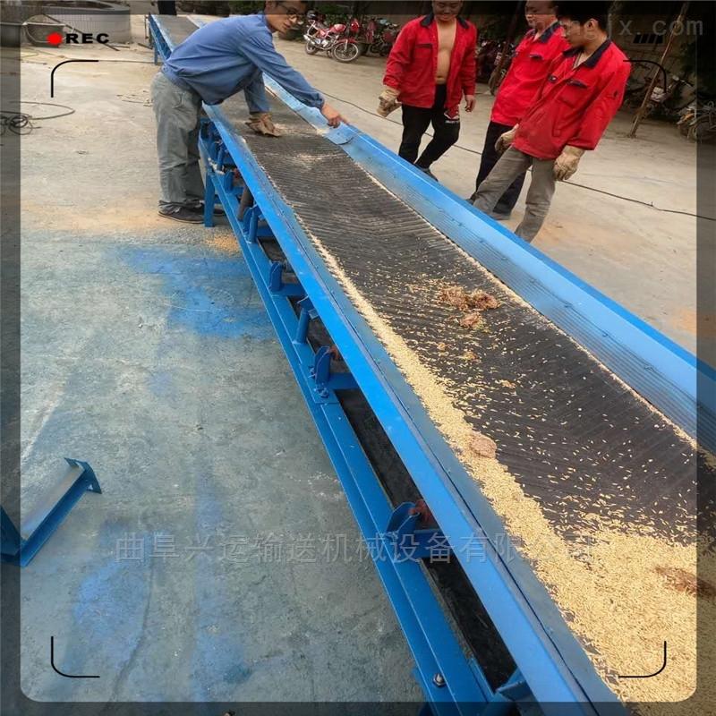 皮带式散砂输送机  50米长带式输送机