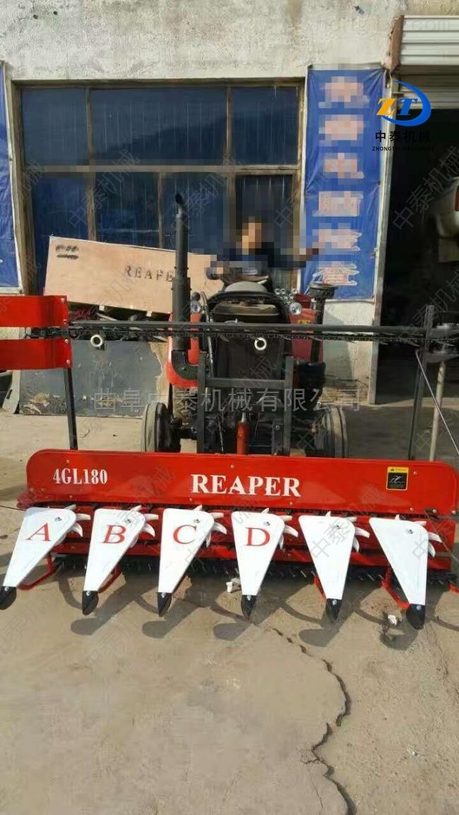农用水稻小麦收割机 中泰新款割晒机割台