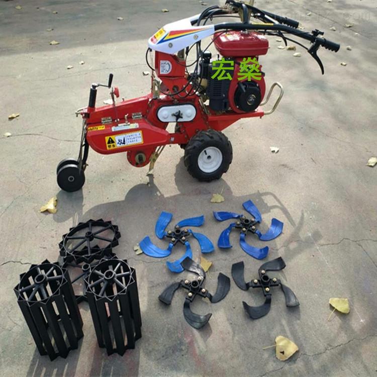 风冷柴油大葱开沟培土机 小型农用开沟机