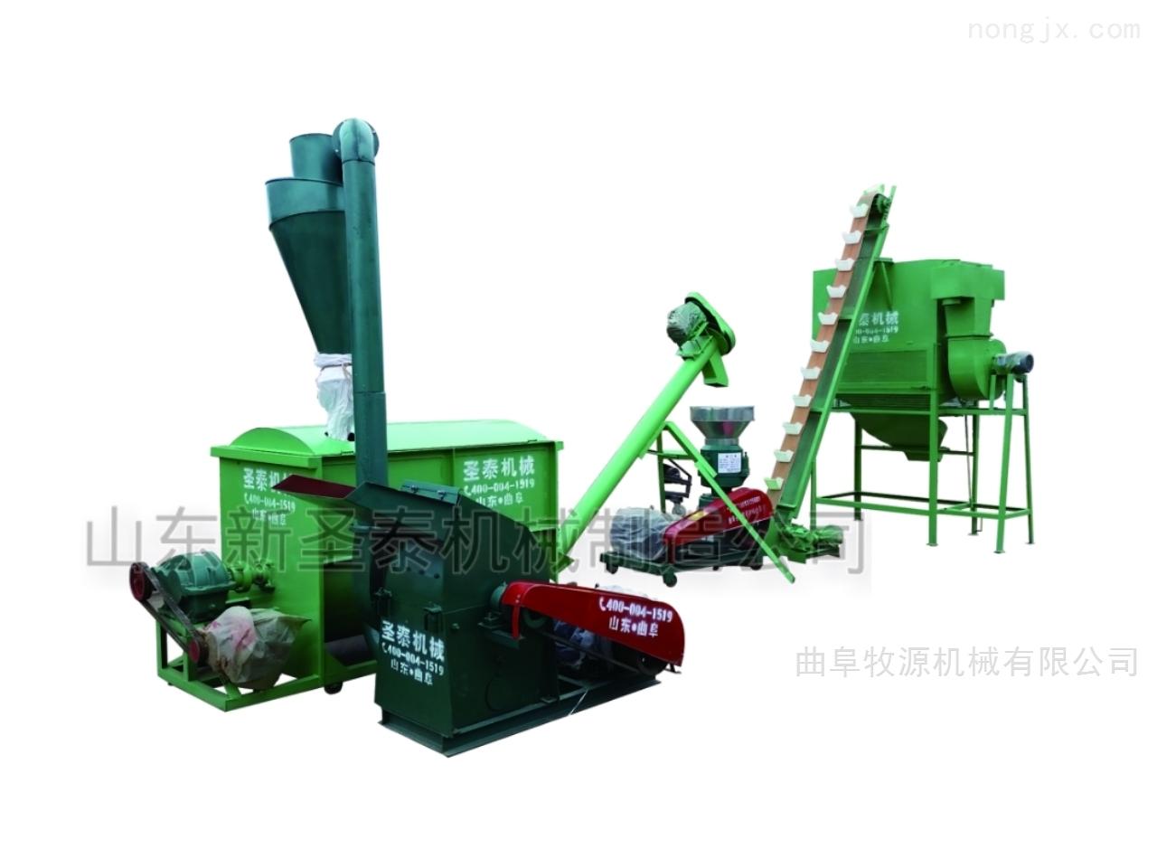 圣泰500公斤饲料颗粒机组设备
