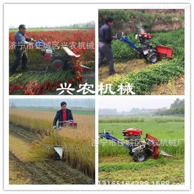 高杆柳条桑条割倒机手推式水稻小麦收割机