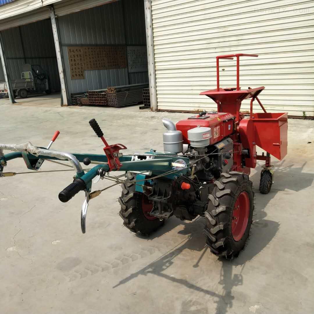 拖拉机带动棒子收获机 中小型玉米收割机图