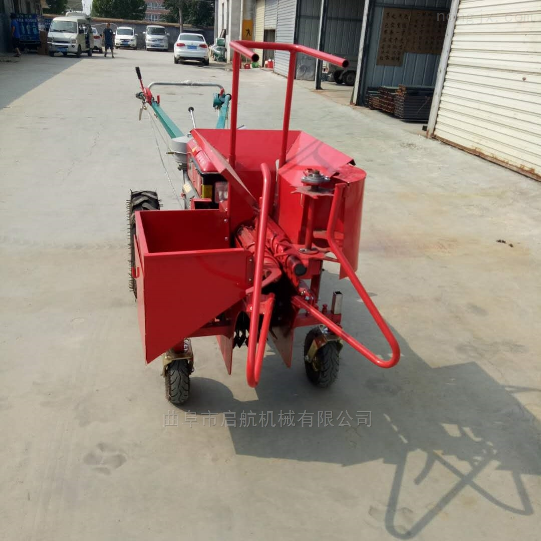 柴油机型秸秆收获粉碎机 手扶车玉米收割机