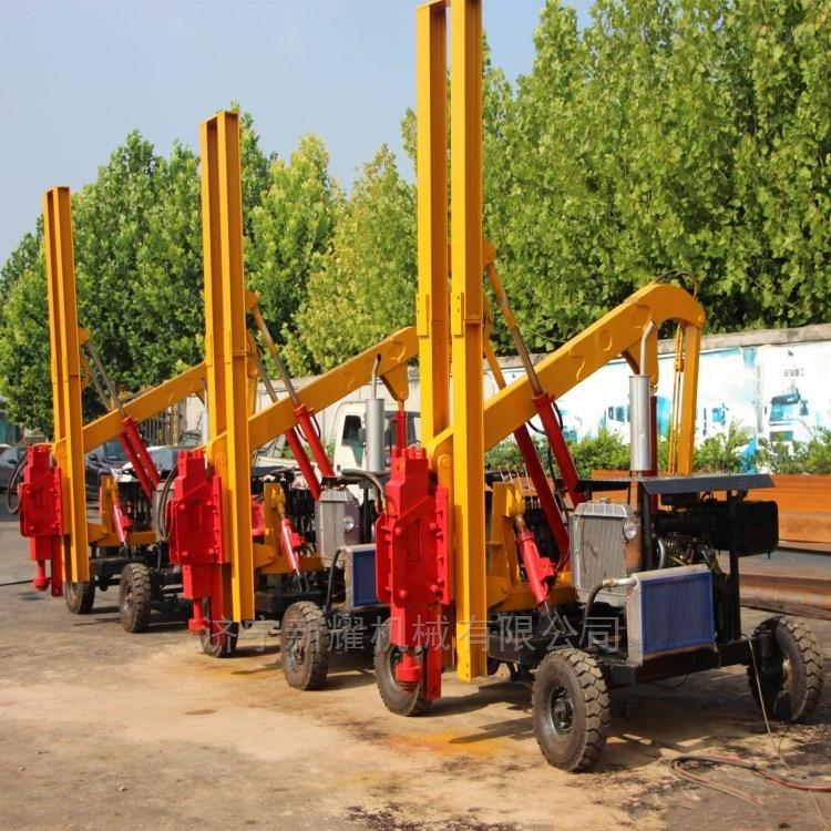 厂家直销装载公路护栏打桩机波形护栏钻孔机