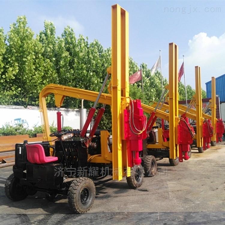 多功能护栏打桩机小型公路护栏桩机稳定强