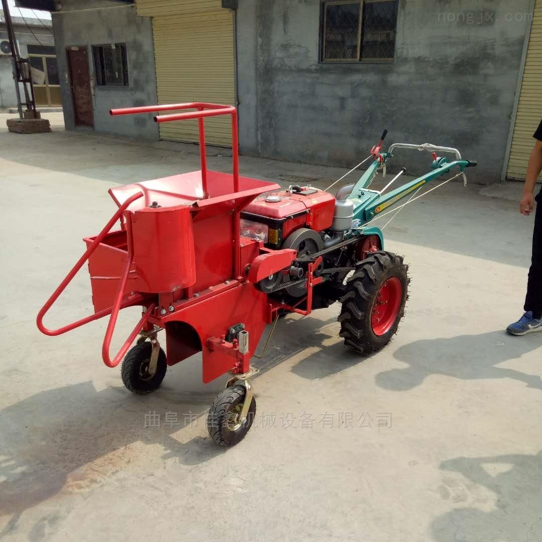 手扶拖拉机玉米收获机 自动扒皮单行收苞米