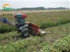水稻收割机操作视频 小型微耕机带割晒机