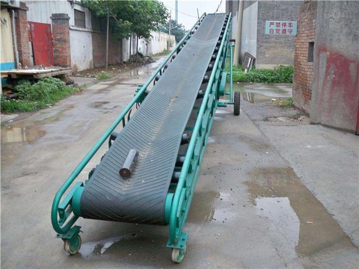 槽钢主架水泥袋输送机,长距离装车用传送带
