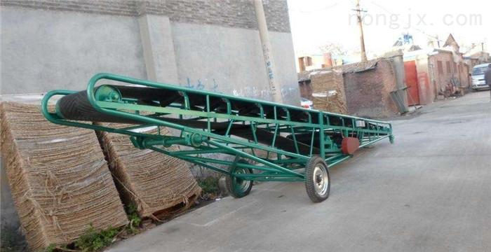 定做皮带机厂家,可升降袋装粮食装车输送机