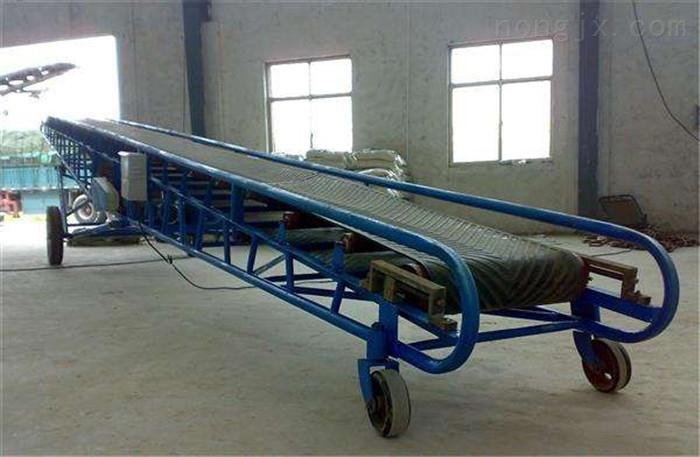 装车用爬坡式皮带机,袋装饲料入库用输送机