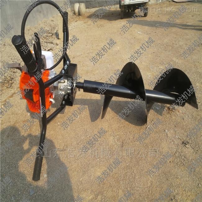 工具護欄埋樁機 山東濟寧果樹種植挖坑機