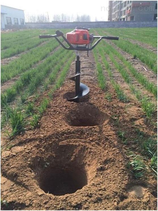 拖拉机挖坑机汽油地基打桩机 动力强劲