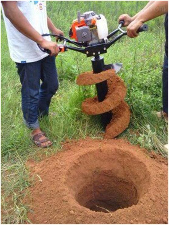 荆州汽油栽树挖坑机 全新四冲程便携式钻眼