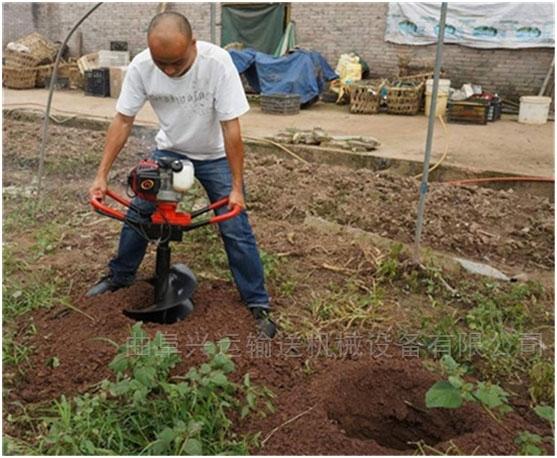 大棚挖坑机水泥管汽油打坑机 效率高xy1挖坑机