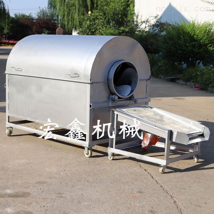 电加热温控滚筒炒货机 瓜子花生翻炒炉价格