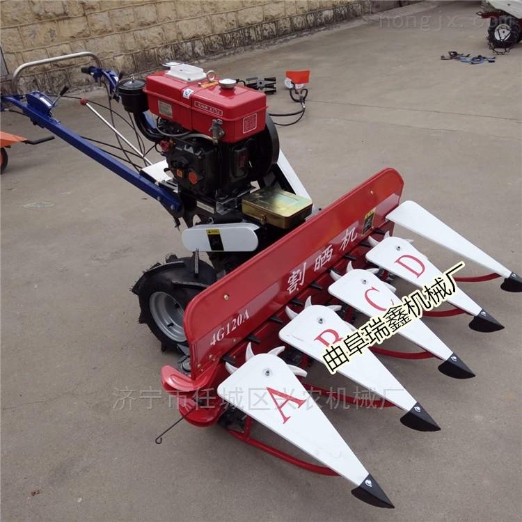 水稻小麦收割机厂家批发 高效稻麦割晒机
