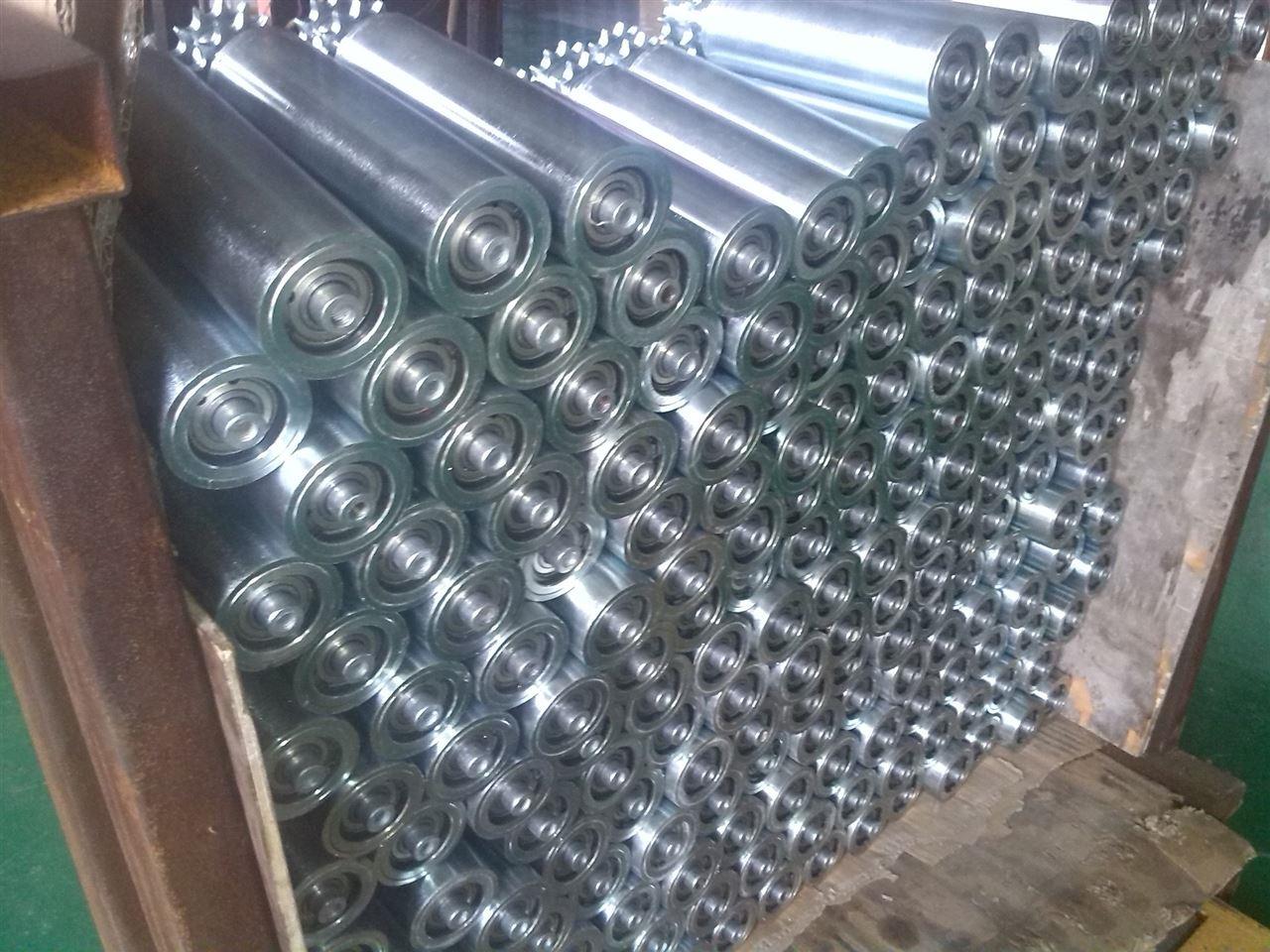 南京水平输送滚筒线 碳钢喷塑动力辊筒输