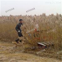 手扶芦苇收割机 玉米草谷子高粱收割放片机
