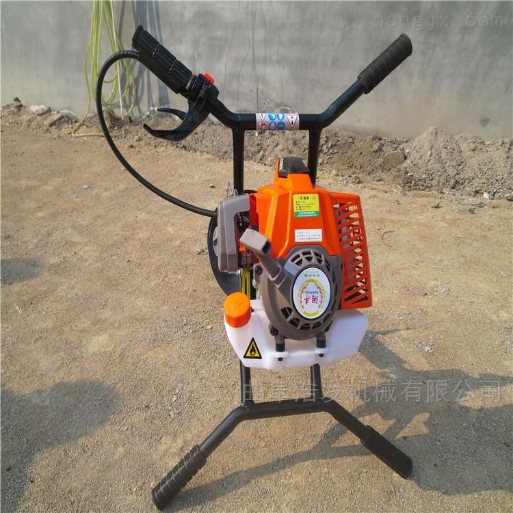 多功能拖拉机带挖坑机 手提式汽油地钻机