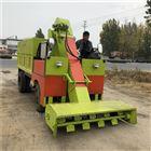 米泉牛棚里自动清粪车 节省养殖人工铲粪车