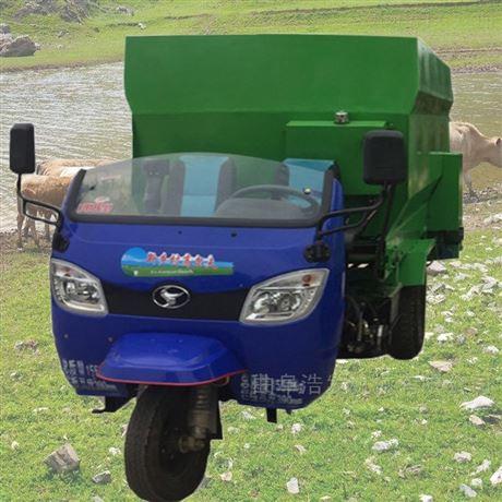 畜牧牛羊自投料撒料车 干草饲料搅拌喂料车