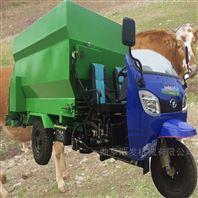 自动饲料撒料车看的到的效果 机械化养殖车