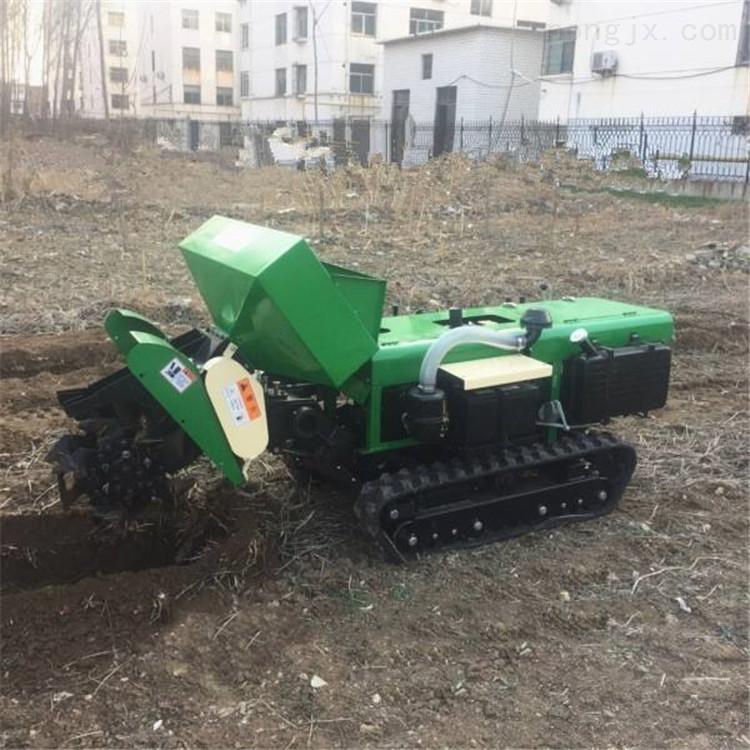 水稻田农用开沟机 履带橘子园追肥机
