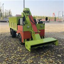 养殖场牛粪清理车 柴油小型三轮清粪车
