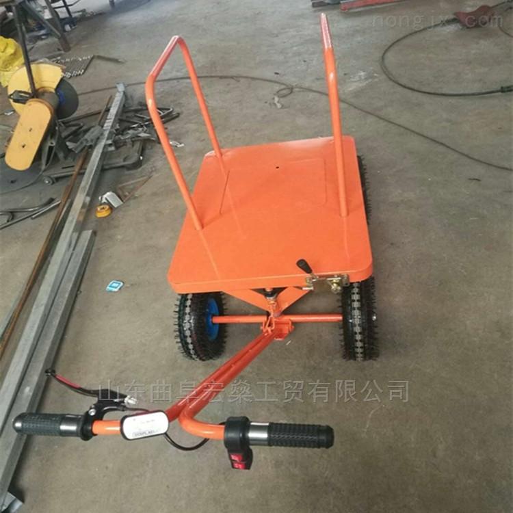 四轮小型平板车 电动手推周转车