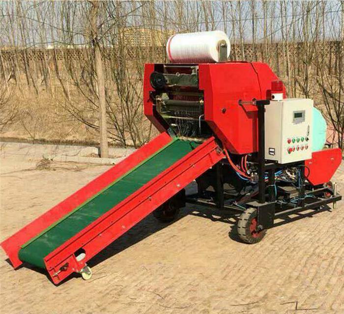 养殖牧区稻草打捆机 自动上料秸秆包膜机