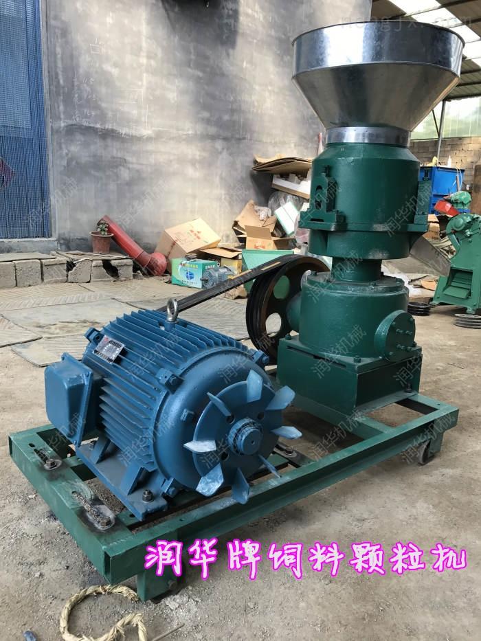 柴油机带秸秆制粒机 流动使用饲料颗粒机