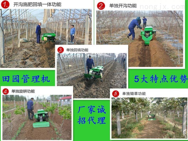 履带式土壤耕整机 作业轻便果园开沟施肥机