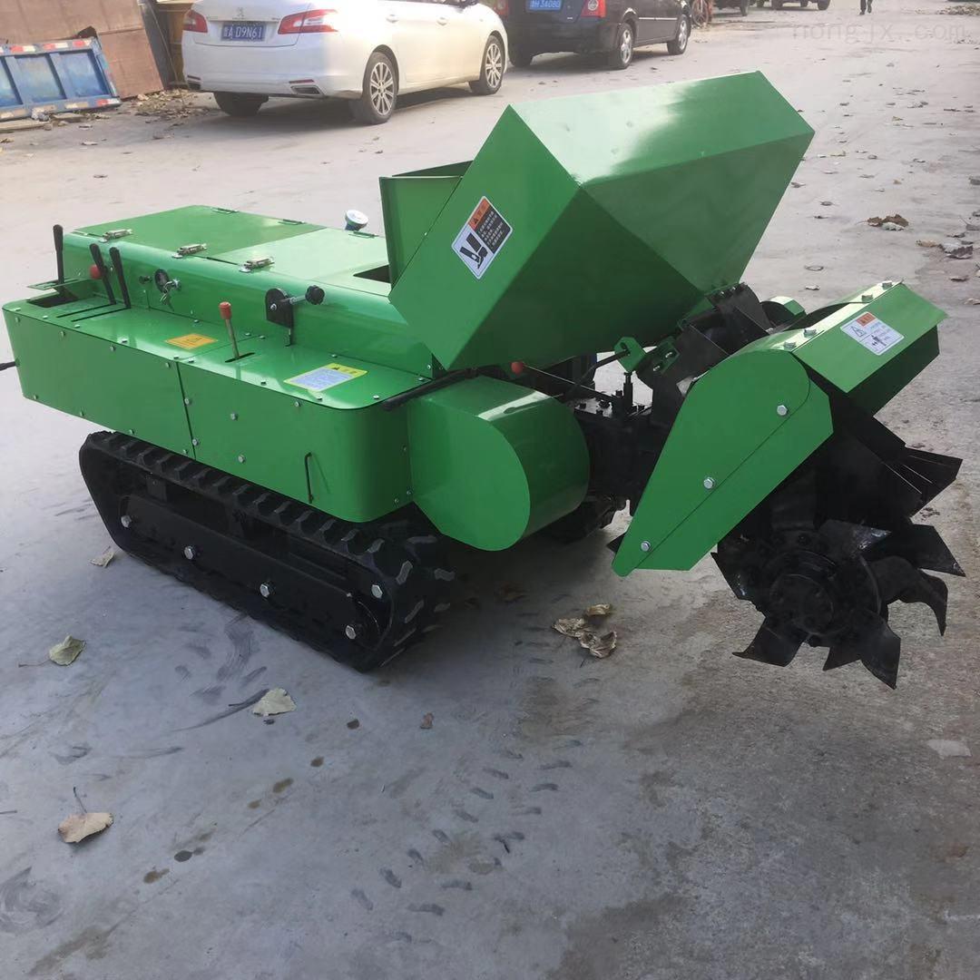 履带式农用旋耕机 柴油电启动开沟机