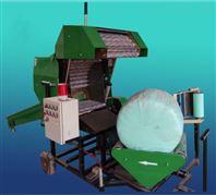 干湿秸秆打捆包膜机 大型青储饲料打包机