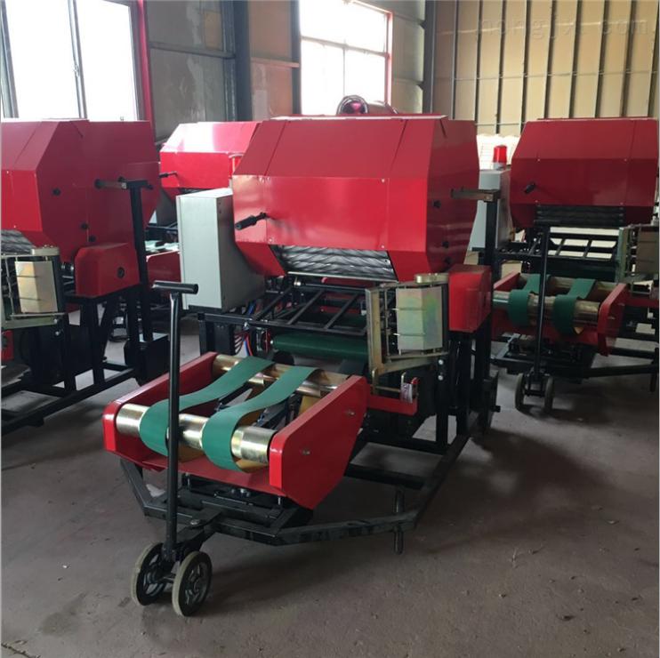 养殖场秸秆揉丝打包机 自捡式麦秆打捆机