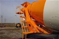 供应0.8方装载机式混凝土搅拌车